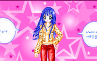 blue hair dressup
